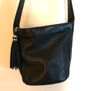 Tignaanello Black Leather Purse